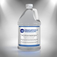 1 Gallon of USP Food Grade Vegetable Glycerin for DIY E-liquid.  This is the highest quality VG available eliquids and EJuices.   Get the most out of your ejuice with our #vegetableglycerin.   #eliquid #ejuice #vape #vaping #vapor #ecig #diyeliquid #ecigarette  https://liquidnicotinewholesalers.com