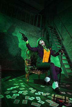 Custom Made Batman Female Joker Costume Uniform Adult Halloween Cosplay Costume Cool Halloween Costumes, Halloween Cosplay, Adult Halloween, Halloween Makeup, Halloween Ideas, Female Joker Cosplay, Gender Bend Cosplay, Jokers Wild, Univers Dc