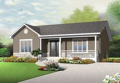 Discover the plan 3136 - Clarendon from the Drummond House Plans house collection. Traditional ranch style bungalow plan, ideal starter home, open living concept with patio door, large shower. Total living area of 1103 sqft. House Plans One Story, Ranch House Plans, New House Plans, Small House Plans, Drummond House Plans, Ranch Style Homes, Shed Plans, Patio Doors, Traditional House