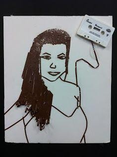 Art @ Massac: Cassette Tape Portraits 8th Grade Art Club
