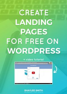 Did you know that you can make landing pages easily and quickly on WordPress, and for FREE? You don't need fancy Leadpages or some expensive plugin to make your own sales page. With just two free plugins you can make simple and effective landing pages for your freebies, courses, and products! If you've ever wanted to create a landing page for your digital product, course, or opt-in forms and freebies then this tutorial will show you how.