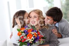 Mother's day celebration in family royalty-free stock photo