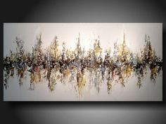Original Abstract Contemporary Fine Art Abstract Textured Painting modern24 X 48 Inches -------  large abstract. $359.00, via Etsy.