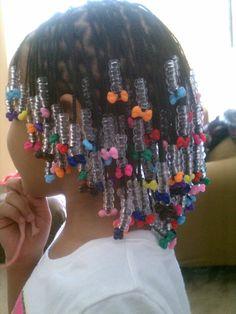 my baby box braids/plats and beads  hairstyles braids