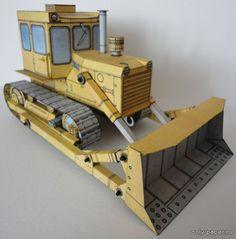 T-100M (ABC 12/1987) из бумаги, модели бумажные скачать бесплатно - Бульдозер  - Гражданская техника - Каталог моделей - «Только бумага»