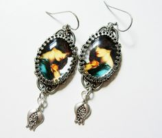 Persephone Earrings  Pre-Raphaelite Image by PersephonesBijoux // etsy