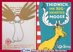 Teaching Kids how to stand for themselves – Dr. Seuss: Thidwick the Big-Hearted Moose | Bilingual Education Activities
