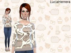 The Sims 4 Packs, Skyrim Mods, Pusheen Cat, The Sims 4 Download, Cat Sweaters, Sims 4 Clothing, Sims Mods, Sims 4 Custom Content, Sims Cc