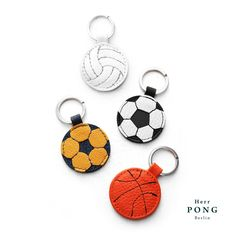 The mini Volleyball Keychain/ Ring - 2