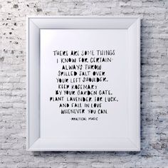 Practical Magic Quote Print, Seasonal Print, Minimalist Art, Wall Art, Instant Download, Downloadable Prints, Digital Print, Original Art  Any Practical Magic fans?! Absolutely love this quote from the ending scene. It's a must have for your Halloween-themed gallery wall, or if you are anything like my cousin and me, a year-round print!