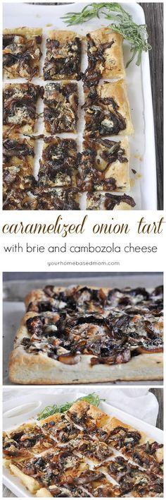 Cambozola Cheese And Caramelized Onion Pizza Recipe — Dishmaps