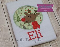 Reindeer Rudolf Applique Design - Embroidery Machine Pattern, $3.99