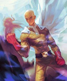Anime One, Manga Anime, Saitama One Punch Man, Superhero, Artwork, Fanart, Action, Japanese, Fictional Characters