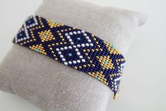 Etsy - Shop for handmade, vintage, custom, and unique gifts for everyone Loom Bracelet Patterns, Bead Loom Bracelets, Bead Loom Patterns, Beading Patterns, Loom Bands, Art Perle, Motifs Perler, Seed Bead Jewelry, Beading Projects