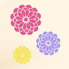 Floral Stencils Bold Bloom wallpaper effect by IdealStencils