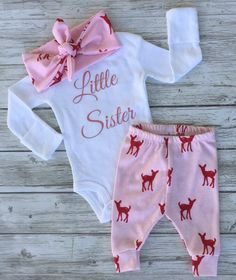 A personal favorite from my Etsy shop https://www.etsy.com/ca/listing/475298423/pink-deer-baby-girl-newborn-baby-coming