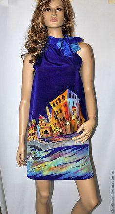 """Купить Платье Батик """" Ночная Венеция"""". - шелковое платье, венеция, вечернее платье"""