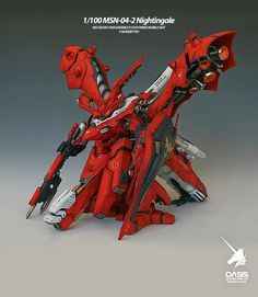 1/100 RC Nightingale - Painted Build - Gundam Kits Collection News and Reviews