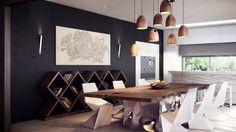 Moderne Idee für den Esstisch mit Naturkante