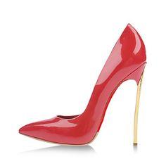 Avokkaat+-+Piikkikorko+-+Naisten+kengät+-+Kiiltonahka+-+Punainen+-+Puku+/+Rento+/+Juhlat+-+Korot+/+Teräväkärkiset+–+EUR+€+49.58