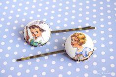 Girl bobby pins set retro hair pins Cute hair by chezviolette