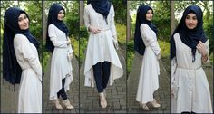 White long blouse by hijab is my diamond