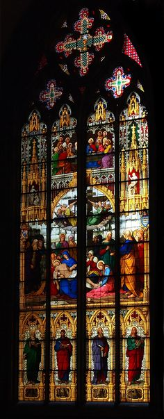"""""""Kölner Dom"""" by peniole . on - Spectacular stained glass in this majestic cathedral Stained Glass Church, Stained Glass Art, Stained Glass Windows, Mosaic Glass, North Rhine Westphalia, Church Windows, Cathedral Church, Old Churches, Gothic Architecture"""