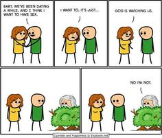 Cyanide-And-Happiness-God-Is-Watching-Us