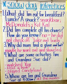 Teaching Inferencing- This is a first grade lesson, but could be adapted for third grade. A great way to introduce/review/practice inferencing.