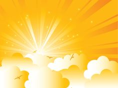 Set of Sunny day vector background 04