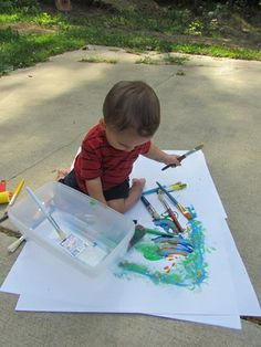 Painting with a toddler - this blog post resonates so strongly with me! It's amazing what I think Pax will do and what he actual does.