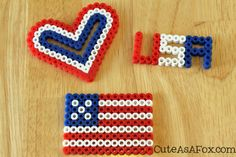 fouth of july perler | ... July 4th, so this year we are very into all things red, white, and