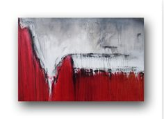 Red Painting Original Abstract Painting von heatherdaypaintings