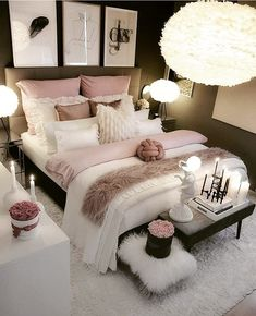 dream rooms for adults ; dream rooms for women ; dream rooms for couples ; dream rooms for adults bedrooms ; dream rooms for girls teenagers Cute Bedroom Ideas, Bedroom Inspo, Bedroom Inspiration, Bedroom Setup, Fashion Inspiration, Lighting Ideas Bedroom, Design Inspiration, Dresser Inspiration, Bedroom Benches