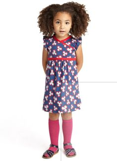 Great tip: buy tunic style dresses for girls like this one from tea. It turns into a tunic as they grow and you can get 3+ years out of it!