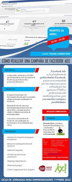 16 abril > Jornada #FacebookAds gratis en @AJEMadrid. Plazas limitadas.
