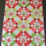 Strawberries and Tea Cot Quilt - via @Craftsy maybe with baby einstein fabrics??
