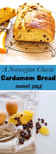 A mix of bread and cake made wonderful with cardamom. Perfect with butter and a piece of cheddar cheese.