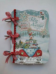 Mini Albums, Mini Scrapbook Albums, Diy And Crafts, Paper Crafts, December Daily, Origami, Scrapbooking, Christmas Scrapbook, Xmas Cards