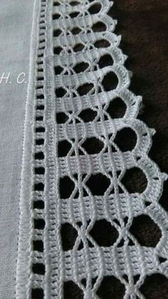 How to Crochet Wave Fan Edging Border Stitch Crochet Edging Patterns, Crochet Lace Edging, Crochet Borders, Thread Crochet, Filet Crochet, Crochet Doilies, Crochet Flowers, Knit Crochet, Crochet Decoration