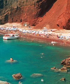 Forget White Sand Beaches. These Shores Are Pink, Black, Even Green | Red Beach, Santorini, Greece