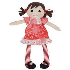 The latest addition to our Tiger Tribe rag doll family - Billie!  Hand-crafted rag doll made from lovely soft cottons with gorgeous little dress and stockings.  Packaged in a stylish gift box making the perfect gift for a little girl!  #designerbaby #designerkids #ragdoll #tigertribe #littlebooteek #giftsgorfirls #babygifts