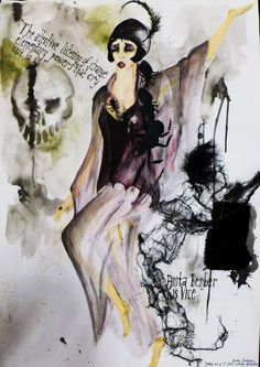 Costume design for Anita Berber inspired theatre character, Wimbledon College of Art © 2011 Sandra Gustafsson
