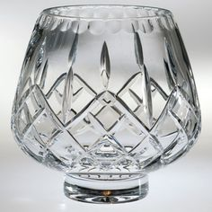 Plaza Crystal Footed Rose Decorative Bowl