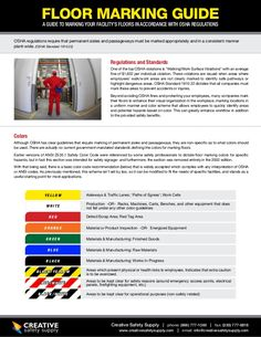 FLOOR MARKING GUIDEA GUIDE TO MARKING YOUR FACILITY'S FLOORS IN ACCORDANCE WITH OSHA REGULATIONSOSHA regulations require t...