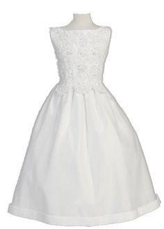 White Satin Communion Baptism Dress with Beaded Applique (14) Lito http://www.amazon.com/dp/B007PSLLG2/ref=cm_sw_r_pi_dp_Atv7ub0Y112H8