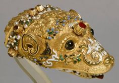 Jeweled head of a zibellino,1550 Italian  Reinette: March 2012