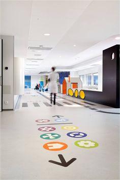 Hospital infantil ludico, decoração de hospital infantil, children hospiltal