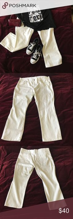 DG2 White Bootcut Jeans DG2 by Diane Gilman White Denim Jeans have comfortable stretch for ease of movement. Perfect for the last days of summer. Size is actually 20 women's PETITE, but Poshmark doesn't allow that to be a size. DG2 by Diane Gilman Jeans Boot Cut