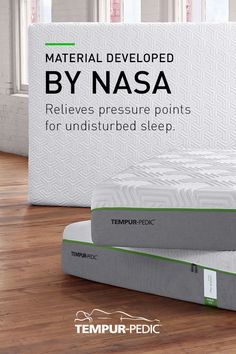 Made with material originally developed by NASA, our mattresses respond to your unique weight, shape, and temperature to help you sleep undisturbed through the night.